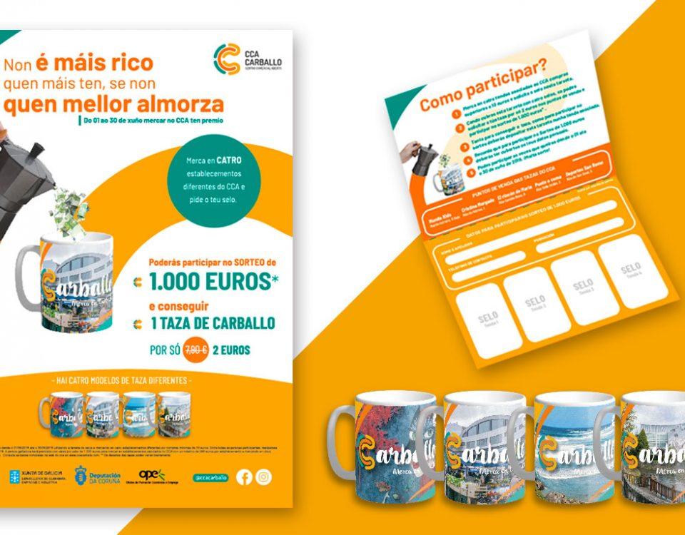 Cartel de publicidad para el CCA de Carballo (A Coruña)