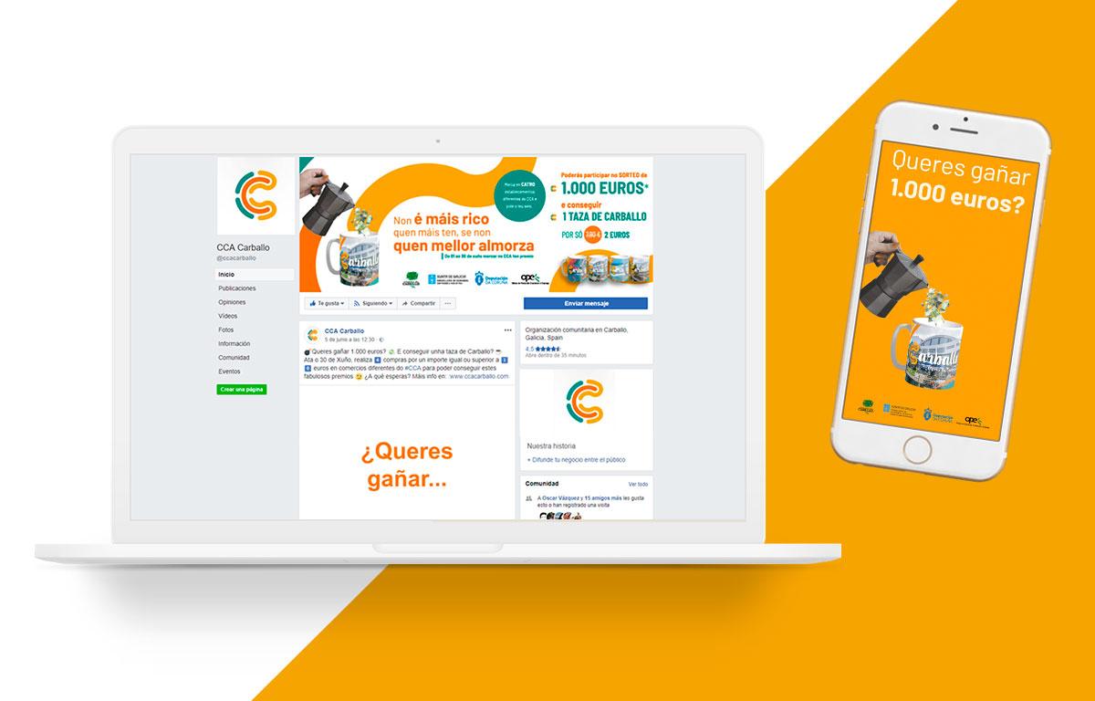 Aplicaciones de publicidad para el CCA de Carballo